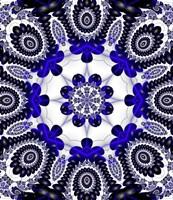 Mod Pod 1 Blue Framed Print