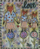 Fox Family Fine-Art Print