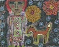 Girl With Fox Fine-Art Print