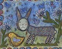 Rabbit With Chick Fine-Art Print