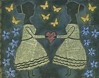 Silhouette Girls Fine-Art Print