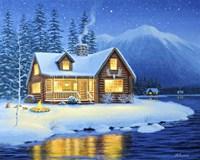 Starlight Cabin Fine-Art Print