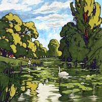 Pop London Landscape Gardens Fine-Art Print