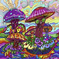 Pop Art - Mushrooms Fine-Art Print