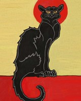 Black Cat Red Moon Fine-Art Print