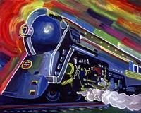 Pop Art Blue Train Fine-Art Print