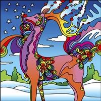 Pop Art Reindeer Fine-Art Print