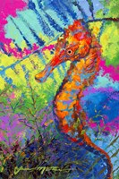 Miniature Majesty of the Ocean - Orange Caribbean Longsnout Seahorse Fine-Art Print