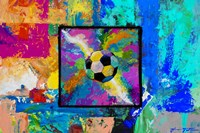 Window into the Soccer Universe - Pink and Cyan Football Fine-Art Print