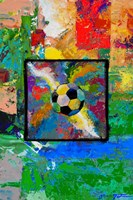Window into the Soccer Universe-  Red and Green Football Fine-Art Print