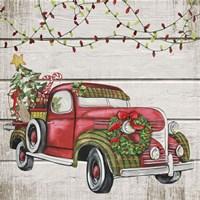 Vintage Christmas Truck-C Fine-Art Print