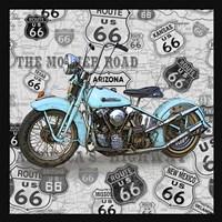 Vintage Motorcycles on Route 66-E Fine-Art Print