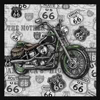 Vintage Motorcycles on Route 66-2 Fine-Art Print