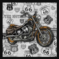 Vintage Motorcycles on Route 66-4 Fine-Art Print