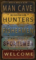 License Plates - Man Cave Fine-Art Print