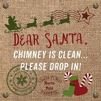 Christmas on Burlap - Dear Santa Fine-Art Print
