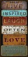 Laugh Live Inspired License Plate Fine-Art Print