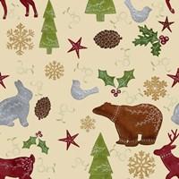 Scandinavian Animals Repeat Fine-Art Print