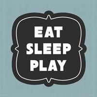 Eat Sleep Play Football - Blue Part II Fine-Art Print