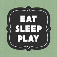 Eat Sleep Play Football - Green Part II Fine-Art Print