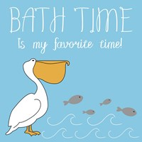 Bath Time Pelican Pete Fine-Art Print