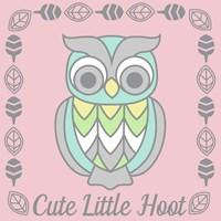 Cute Little Hoot Girl Fine-Art Print