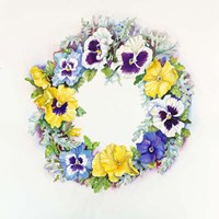 Pansy Wreath Fine-Art Print
