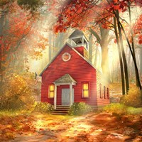Little Red Schoolhouse Fine-Art Print