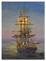 Moonlit Moorings Fine-Art Print