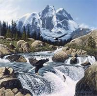 Fishing At Eagle Rocks Fine-Art Print