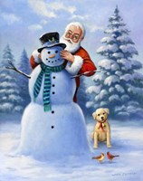 Santa & Snowman Fine-Art Print
