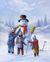 Snowman III Fine-Art Print