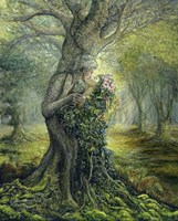Dryad And The Tree Spirit Fine-Art Print