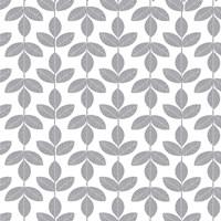 Allover Leaf Pattern Grey Fine-Art Print