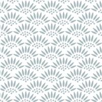 Geo Petal White-Blue Fine-Art Print