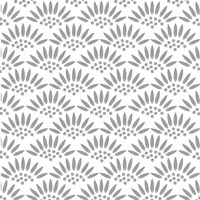 Geo Petal White-Grey Fine-Art Print