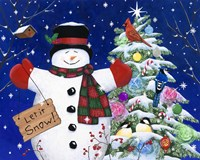 Let it snow man Fine-Art Print