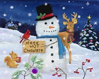 Hot Chocolate Snowman Fine-Art Print