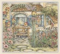 Cobblestone Birdhouses Fine-Art Print
