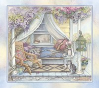 Daybed On The Porch Fine-Art Print