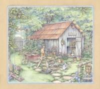 Garden Shed Fine-Art Print