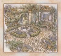 Well inthe Garden Fine-Art Print