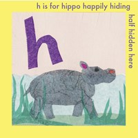 H is For Hippo Fine-Art Print