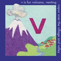 V is For Volcano Fine-Art Print