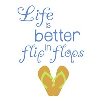 Better In Flip Flops Fine-Art Print