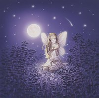 Girl With Night Flower Fine-Art Print