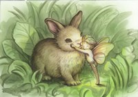 Fairy Prince With Bunny Fine-Art Print