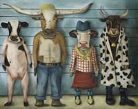 Cattle Line Up Fine-Art Print