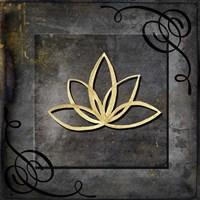 Grunge Gold Crown Lotus Fine-Art Print