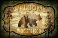 Welcome - Lodge Black Bear 2 Fine-Art Print